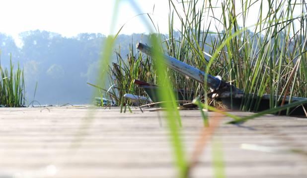 Paadisild Viljandi järve rannas.