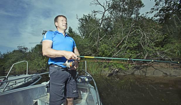 Marko Matvere Pede jõel. Foto: Aivar Kullamaa.