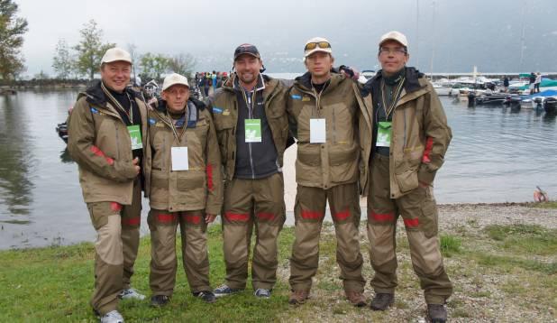 EESTI ESINDUS. Vasakult: Allan Jaakus, Jaak Visnapuu, Martin Meier, Lehar Leetsaar  ja Stanislav Pesjukov. Foto: Priit Kallas