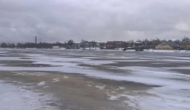 Jõgi on, jää on, kusagil on ka vimb - Pärnu jõgi, 10. jaanuar 2015