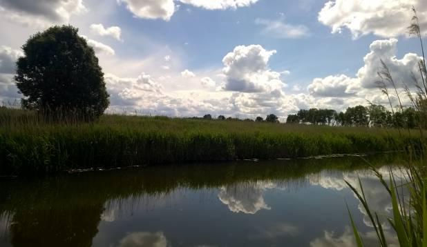 Vigala jõel suvist vimba õngitsemas