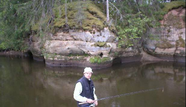 üksik kalamees keset metsikut loodust