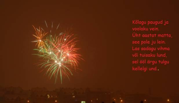 Head vana-aasta lõppu ja uue algust:)