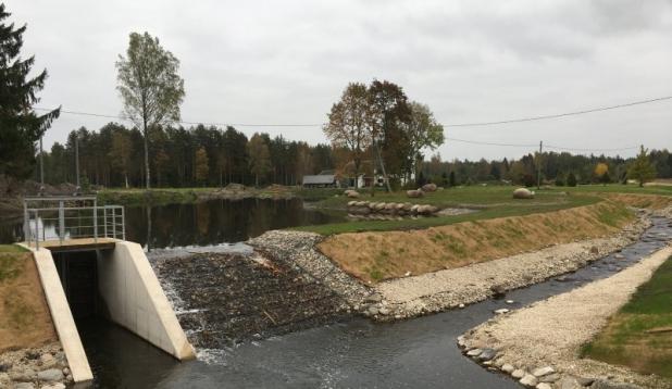 Võlli pais ja kalapääs Lemmjõel Viljandimaal. Foto: Elina Leiner